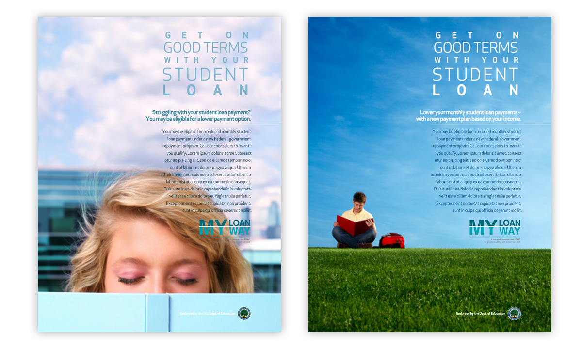 Print ads for Educational Credit Management Corporation